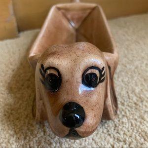 Vintage wiener dog dachshund cracker holder